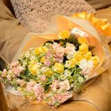 贈呈用花束は提携先にお願いしました。