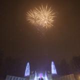 挙式後の花火