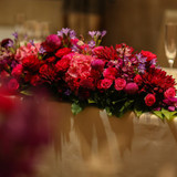 個性的な装花をお願いしました