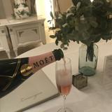 試食会ではモエ・ピンクをいただきました