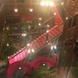 2階からのぞいた階段