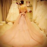 カラードレスです。淡いピンクでした。