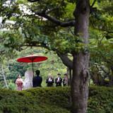 当日は雨が降らず、傘の演出ができました