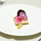 タスマニア産サーモンと紅紫野菜のガトー仕