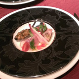 前菜、ホタテが美味でした。