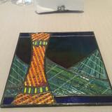 神戸らしいステンドグラスの絵皿