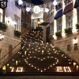 階段のライトアップ