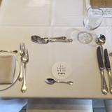テーブルコーディネートはシンプルでした。