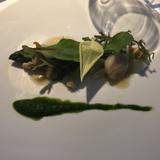 私の前菜。アスパラと魚介