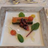 前菜:真鯛とサーモンのマリネ