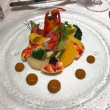 オマール海老と色彩野菜 キャビア添え
