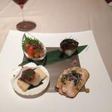 フォアグラのお寿司(右上)が美味しかった