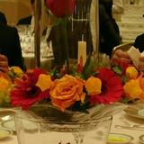 美女と野獣のテーブル装花