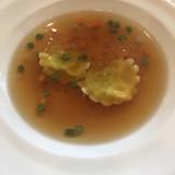 トリュフ入りのスープ。