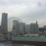 屋上からの眺望はザヨコハマ。