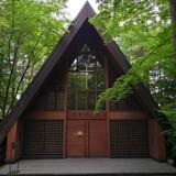 軽井沢高原教会の正面