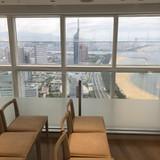 福岡タワーがすぐ横に見えます