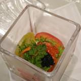 前菜 キャビアと海の幸の宝石箱