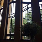 ホールの窓