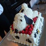 スヌーピーのケーキ