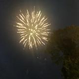外でエンドロールからの花火☆