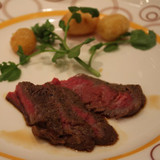 フランベのお肉