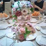 披露宴卓のお花