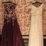 ウェディングとカラードレス。