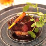 牛ロース肉の網焼き