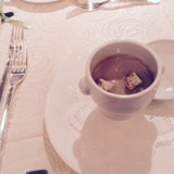 トリュフのスープです。