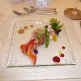 エビ・カニ・キャビアと野菜のムース