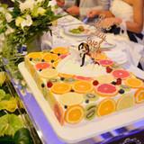 レアチーズケーキのウェディングケーキです