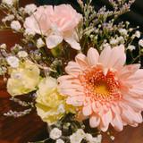 お土産でもらった花も可愛かったです。