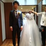 グレーのドレスが素敵でした