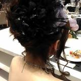 新婦のヘアスタイル
