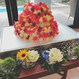 食べられるお花のウエディングケーキ