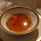 スープ、ハートの野菜?が可愛い。