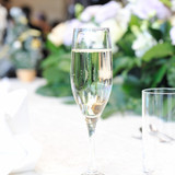 乾杯はシャンパンにて