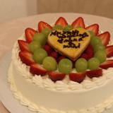 可愛らしいケーキを作っていただきました