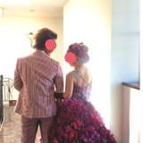 一目惚れのカラードレスです!