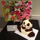 チョコレートの熊のケーキ