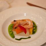 天使の海老と季節野菜のエチュベ