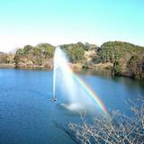 虹がずっと見えていました。幸せですね。