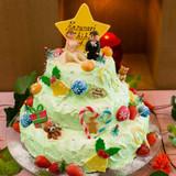 クリスマスツリーのケーキ