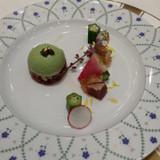 彩り野菜と紫蘇のムース