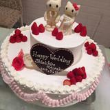 大好きなキティちゃんのウエディングケーキ