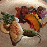 お魚とお肉のメイン料理