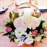 イメージ通りの卓上装花