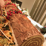 ジブリ映画をイメージした丸太のケーキ