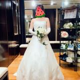 ベアトップのドレス